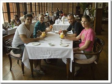 Richie, Sophie, Lisa and Sam at Cafe Batavia