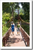 Lisa and Sophie on the Hanging Bridge in the Bogor Botanic Gardens