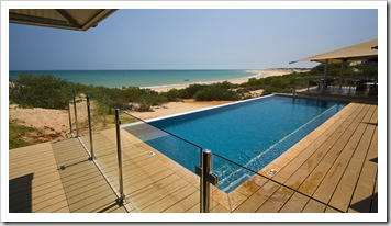 The ocean view pool at Eco Beach