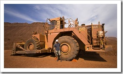 A retired dozer at the Tom Price mine