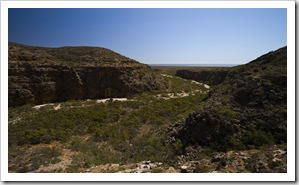 Mandu Mandu Gorge with Ningaloo Reef in the distance
