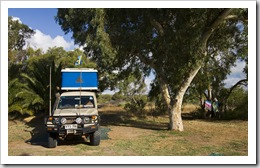 Our campsite in Kalbarri