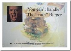 The biggest burger I've ever seen!