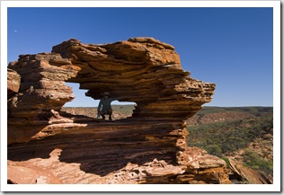 Lisa in Nature's Window in Kalbarri National Park