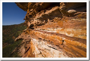 Zebra-striped rocks in Kalbarri Naitonal Park