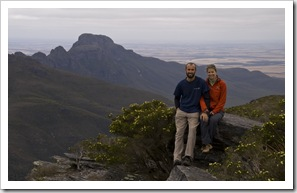Sam and Lisa at the top of Bluff Knoll