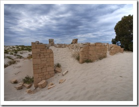 Ruins of the old telegraph station at Eucla