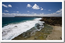 Beautiful coastline at Venus Bay with Venus Bay Conservation Park in the distance