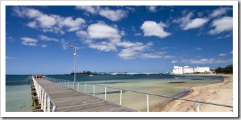 Port Lincoln's jetty and massive grain silos
