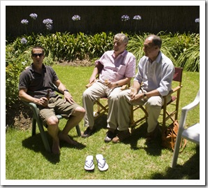James, Andrew and Bob at Christmas lunch