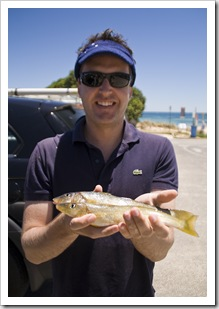 Matt witha  couple of Yellowfin Whiting at Seacliff