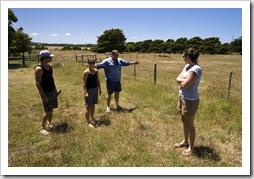 Chris, Lisa, Al and Gina on the farm