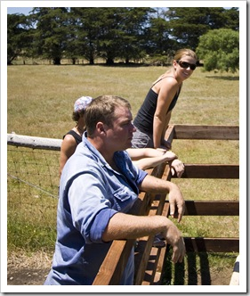 Al and Lisa having a look at the farm yards