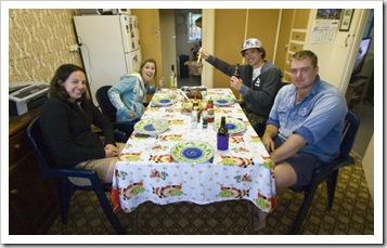Gina, Lisa, Chris and Al at dinner