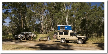 Our campsite on the banks of the Glenelg River in Harrow