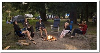 Our campsite at Stevenson Falls