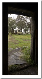 The Tank through the door of the Howitt Plains Hut