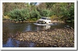 Bessie crossing the Wonnongatta River