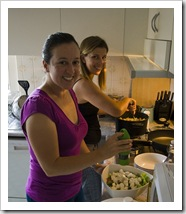 Bronte and Lisa cooking up a storm