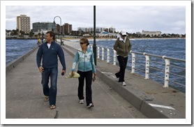 Ben, Lisa and Bronte on Saint Kilda Pier