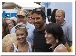 Pat Rafter making a surprise appearance