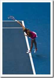 Alona Bondarenko serving