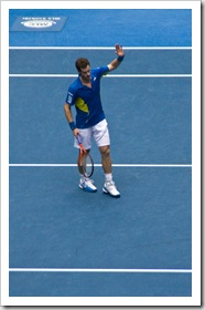 A victorious Andy Murray