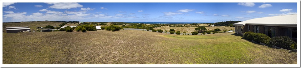 Panoramic of the Jordans' property overlooking British Admiral Reef