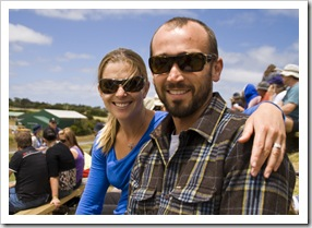 Lisa and Sam at the King Island Races