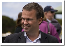 The premier of Tasmania (David Bartlett) at the King Island Races