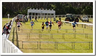 The Human Hurdle Race at the King Island Races