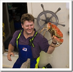 Russell holding a Giant Crab
