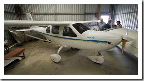 Grant's ultralight Jabiru plane