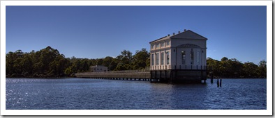 The old pump house on Lake Saint Clair