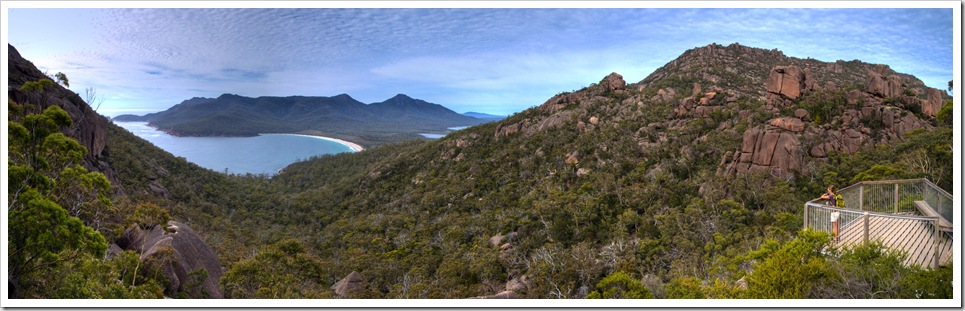 Lisa overlooking Wineglass Bay