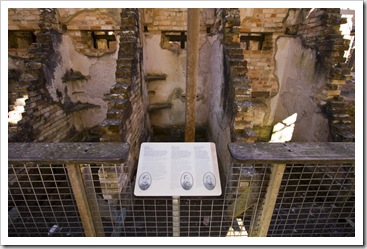 Three of the cells in the penitentiary