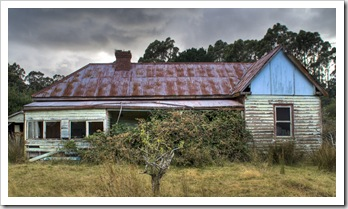 Delapidated houses on South Bruny Island