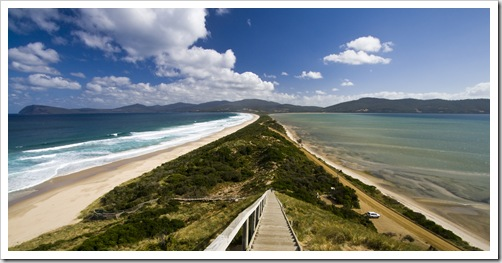 The Neck looking toward South Bruny Island