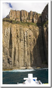 The cliffs of South Bruny Island