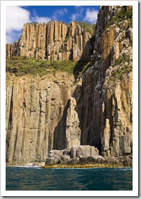 The Monument and cliffs of South Bruny Island