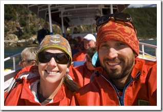 Sam and Lisa on Bruny Island Cruises