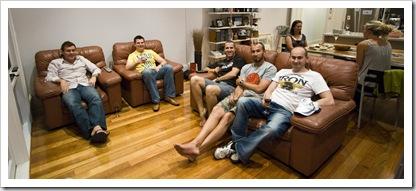 Ben, Tom, Jarrod, Sam and Greg in Melbourne