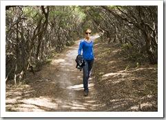 Lisa strutting her stuff on the way to Pillar Point