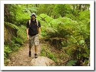 Sam hiking to Sealers Cove
