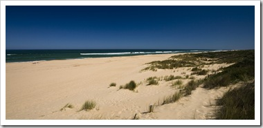 The main beach at Lakes Entrance
