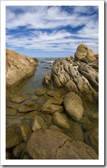 Salmon Rocks by Cape Conran