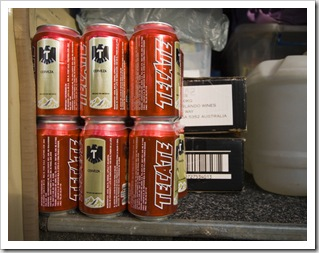 The Tank well stocked with Tecate