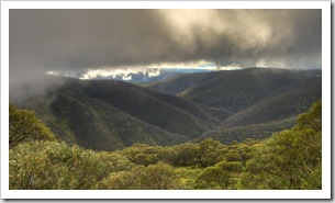 View of the Victorian Alps from the road to Mount Hotham