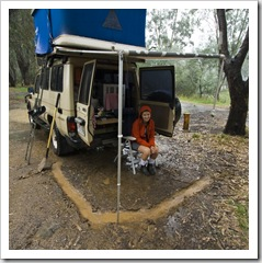 Camping in the rain near Milawa