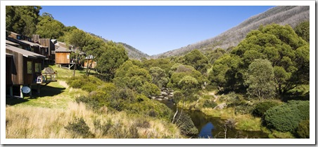 Thredbo Village and the Thredbo River